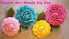 Cara Mudah Membuat Mawar Indah dari Renda Zig-Zag