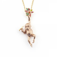 Orangutan Flower Pendant Necklace Bill Skinner Jewellery Blog