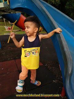 Haziq ng qin xuan, mild cerebral palsy, afo brace with hinge, playground