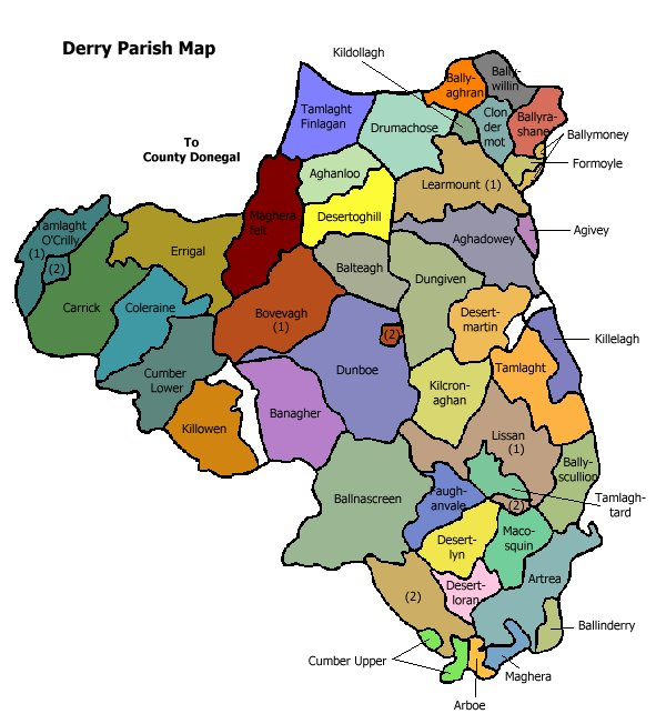 Regional Map Of Ireland.Derry Map Regional City Of Ireland Map Of Ireland City Regional