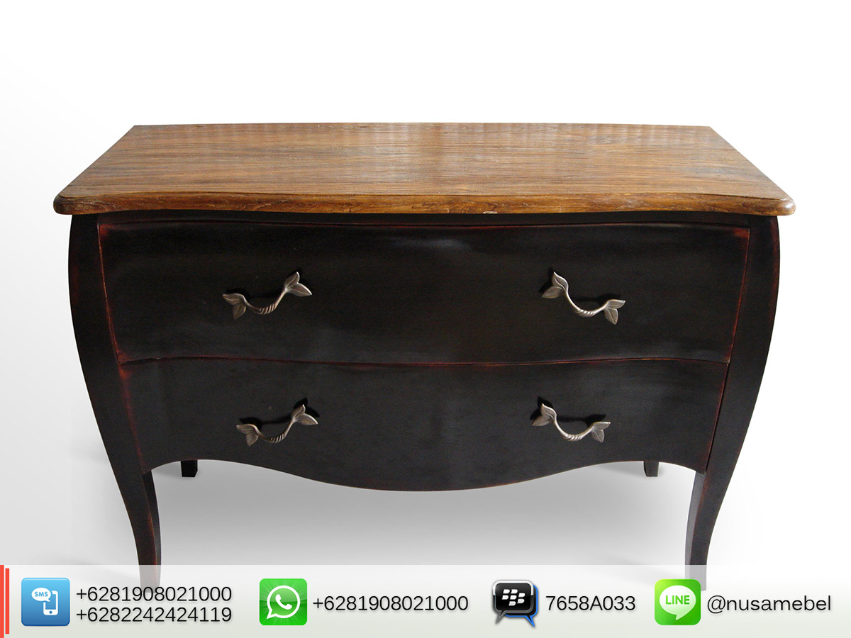 Antique Commode Dresser with 2 Drawers Lutfiansyah