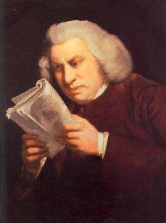 "Portrait of Samuel Johnson by Joshua Reynolds. It's also used as the ""WTF am I reading?!"" meme."