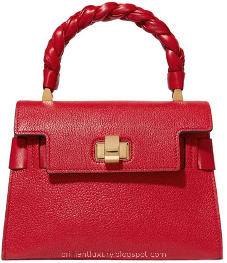 Brilliant Luxury ♦ Miu Miu ~ Miu Click red textured-leather tote bag