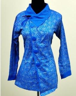 Model Baju Batik Atasan Guru Wanita