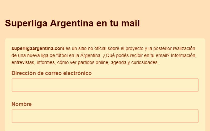newsletter futbol argentino