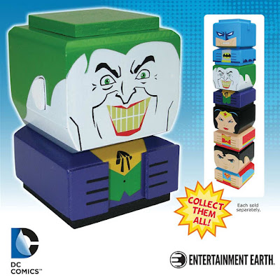 DC Comics Tiki Tiki Totem Wooden Stackable Figures by Entertainment Earth - The Joker