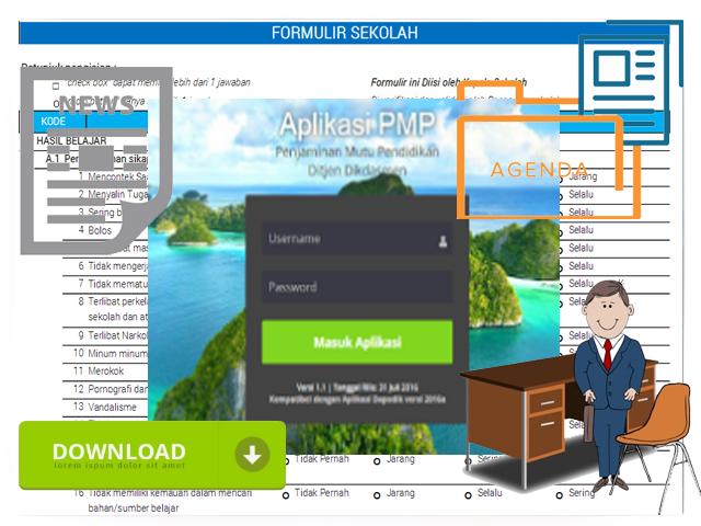 Aplikasi PMP [ Pemetaan Mutu Pendidikan ] Versi 1.2 Lengkap Dengan Instrumen Sekolah, Guru, Pengawas, Komite Sekolah dan Siswa