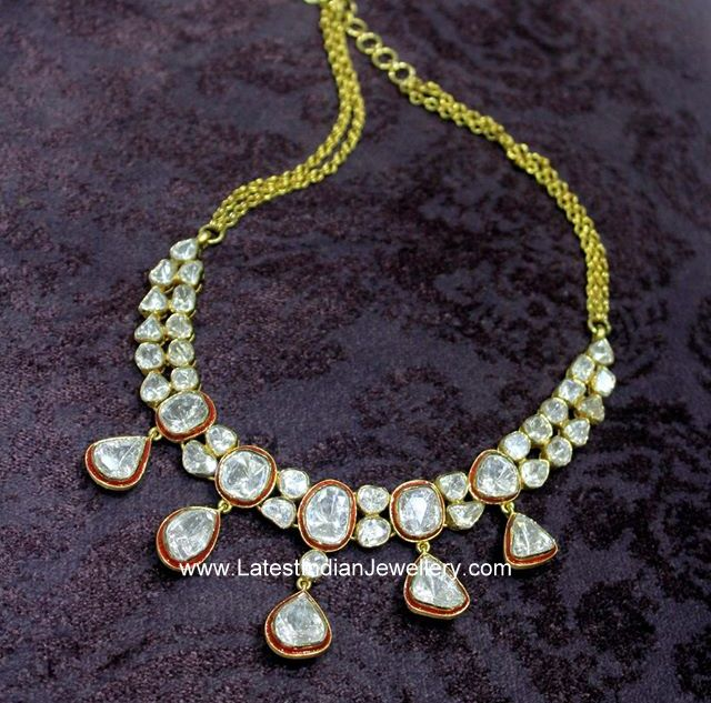 Stunning Polki Jadau Necklace