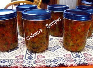 ZUCCHINI PICKLE RELISH