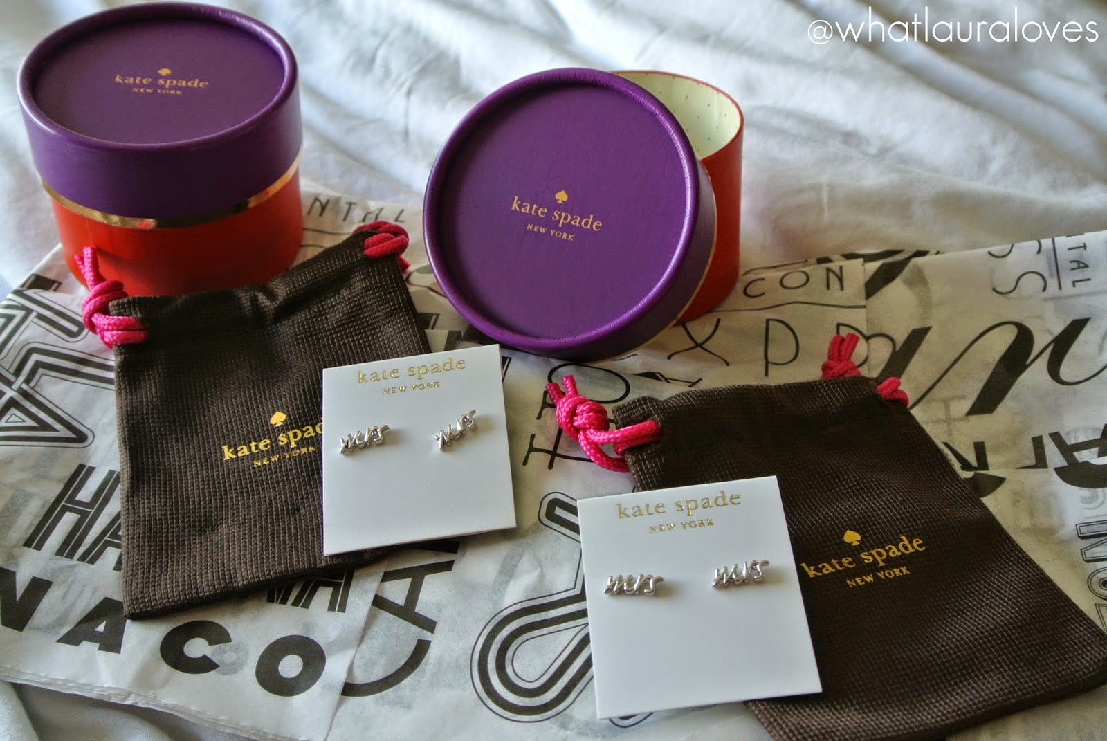 Kate Spade Hily Ever After Range Mrs Stud Earrings