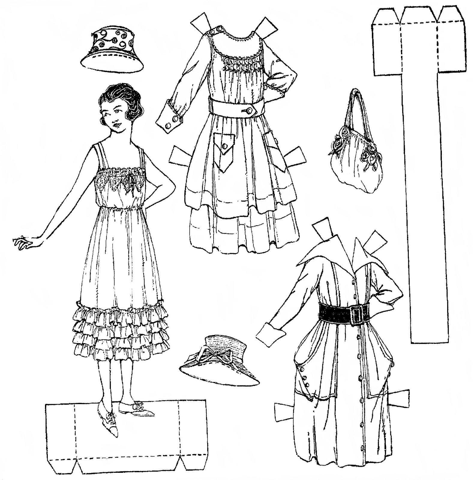 mostly paper dolls fashionable paper dolls from 1917. Black Bedroom Furniture Sets. Home Design Ideas