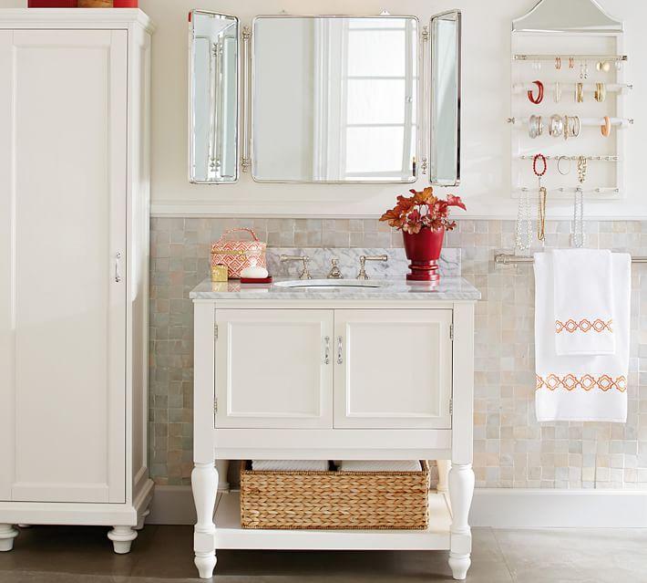 Pottery Barn Powder Room Vanity: Pottery Barn Look-Alike Bathroom Vanities