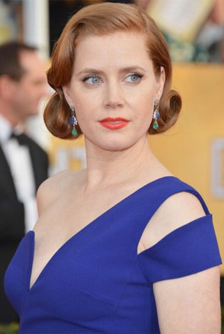 orange is the new black, amy adams, orange lip