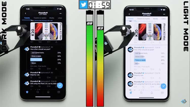 dark mode menghemat baterai