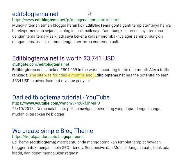 Pada pencarian bing editblogtema muncul cukup intensive