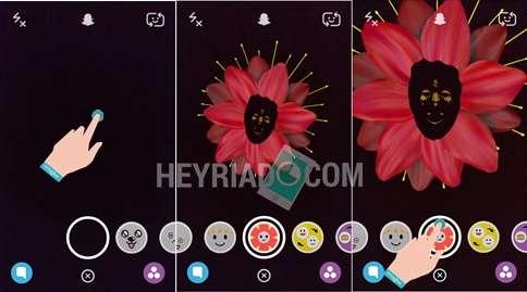 Cara Menggunakan Lensa Snapchat Android