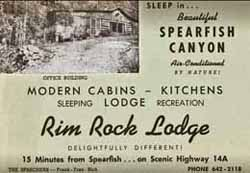 AD FROM YESTERYEAR: <b><i>RIM ROCK LODGE</i></b>