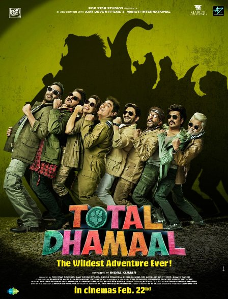 Bollywood movie Total Dhamaal Box Office Collection wiki, Koimoi, Wikipedia, Total Dhamaal Film cost, profits & Box office verdict Hit or Flop, latest update Budget, income, Profit, loss on MT WIKI, Bollywood Hungama, box office india
