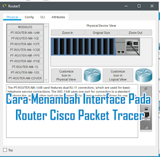 Cara Menambah Interface Jaringan Pada Router Cisco Packet Tracer