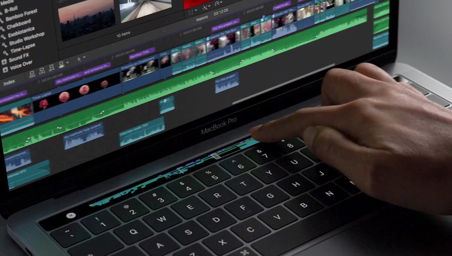 Thanh cảm ứng Touch Bar trên MacBook Pro