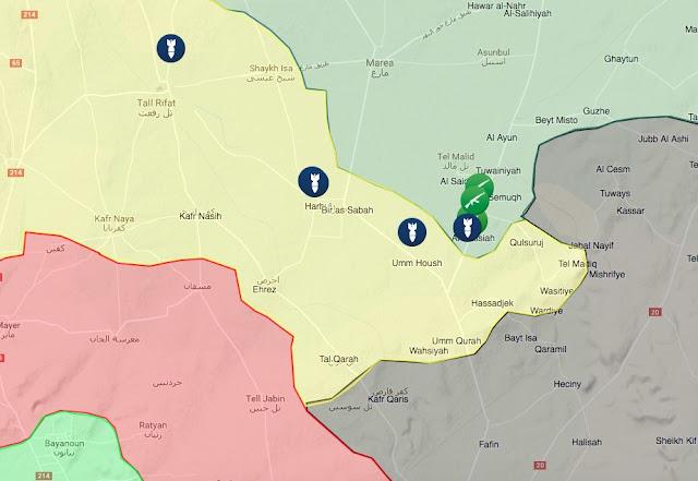 posisi target pesawat turki di wilayah kurdi