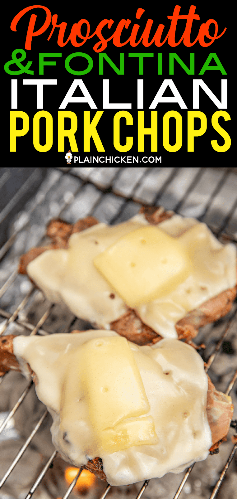 Prosciutto & Fontina Topped Italian Pork Chops - OMG! Better than any restaurant! These might be the BEST pork chops we've ever eaten! Pork chops marinated in Italian dressing and Worcestershire sauce then grilled and topped with prosciutto and Fontina cheese. Pork on pork with cheese! YUM! SO simple and they taste AMAZING! #porkchop #grilling
