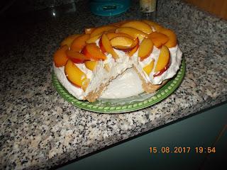 crostata tipo cheesecake  senza cottura alle pesche ...