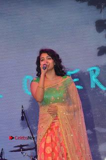 Singer Manisha Eeraini Stills in Half Saree at Nenu Local Audio Launch  0002.JPG