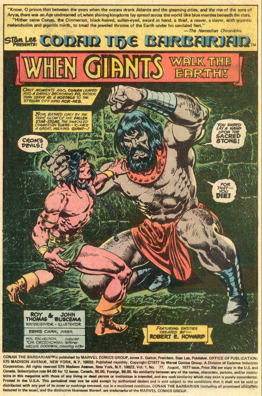 Conan the Barbarian (1970) Issue #77 #89 - English 2