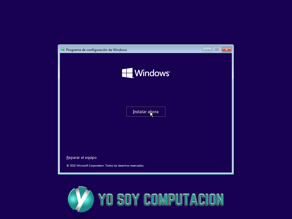Instalar windows 10 pro