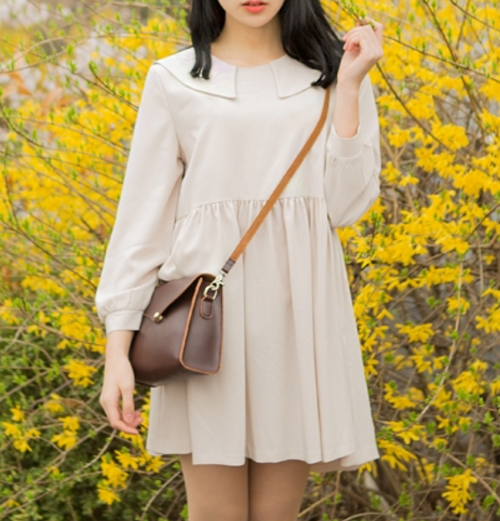 Puritan Collar Mini Dress