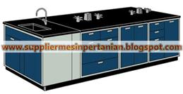 island bench dengan sink - meja lab ruangan tengah