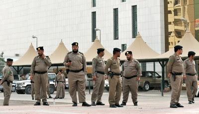 Saudi policemen in Riyadh, KSA