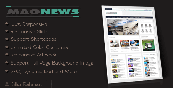 Download MagNews Responsive Blogger Template Free