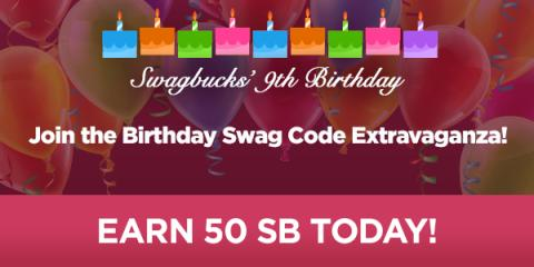 Image: Swagbucks is celebrating their birthday all day on February 27th, but they want to give YOU presents