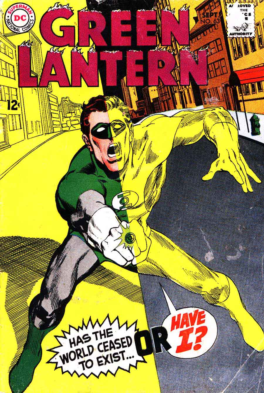 Green Lantern v2 #63 dc comic book cover art by Neal Adams