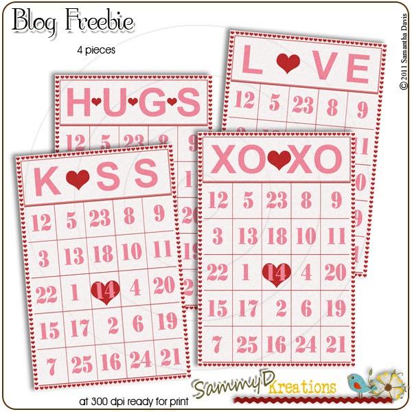 SammyD Kreations: Valentine Bingo Card Freebie