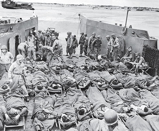 D-day casualties