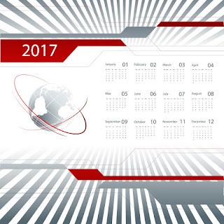 2017カレンダー無料テンプレート211
