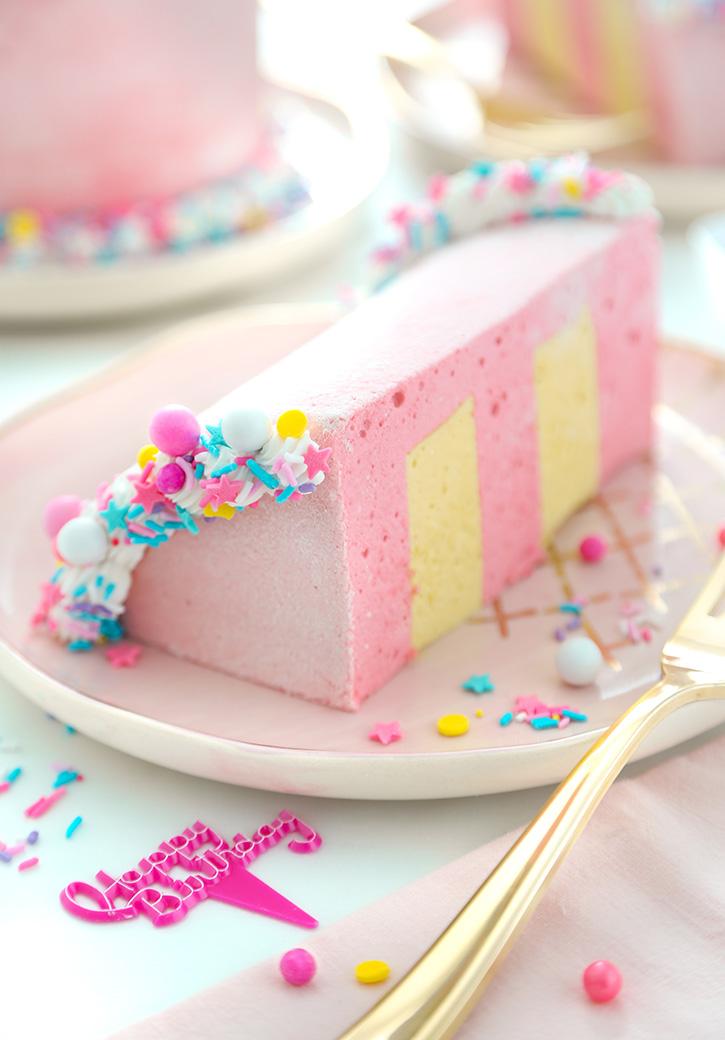 Fine Birthday Cake Slice Marshmallows Sprinkle Bakes Personalised Birthday Cards Veneteletsinfo