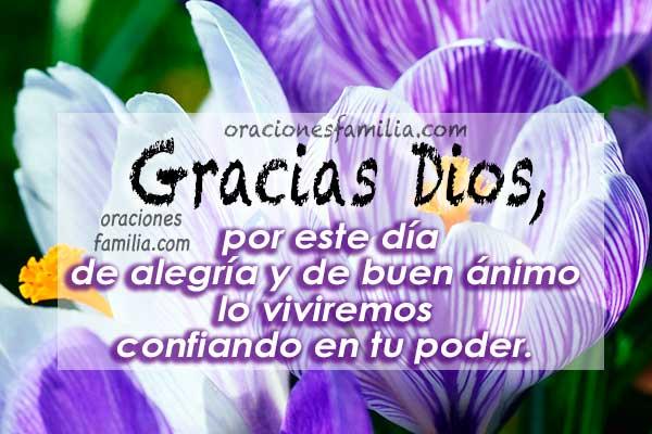 frases imagen para dar gracias a Dios buenos dias oraciones
