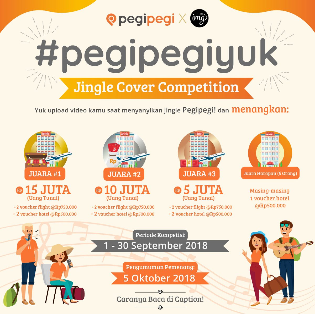 PegiPegi - Promo Kontes Jingle Cover Competition (s.d 30 Sept 2018)