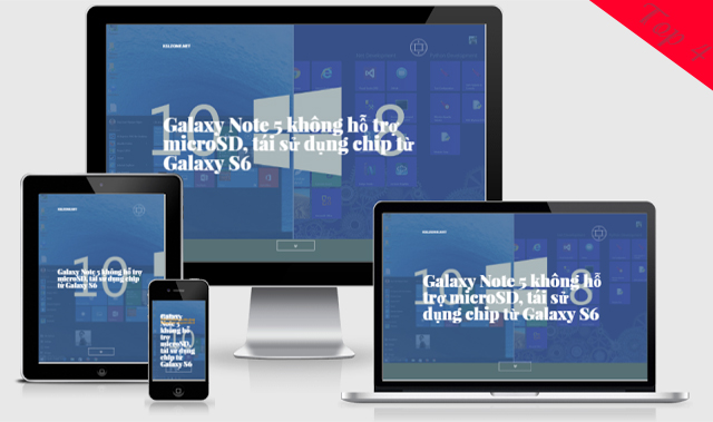 KslDualView Template Blogger Landing Page