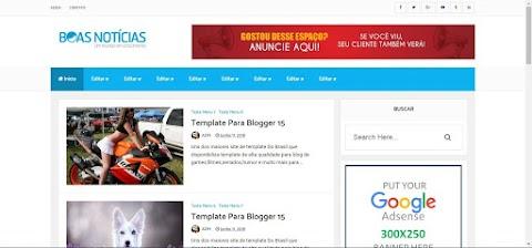 Template De Portal De Notícias Para Blogger
