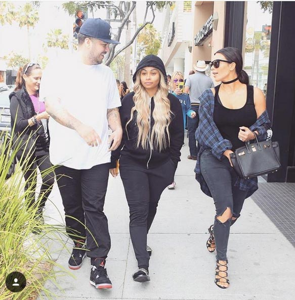 Hmmm! Look Who Was Spotted With Rob Kardashian And Blac Chyna