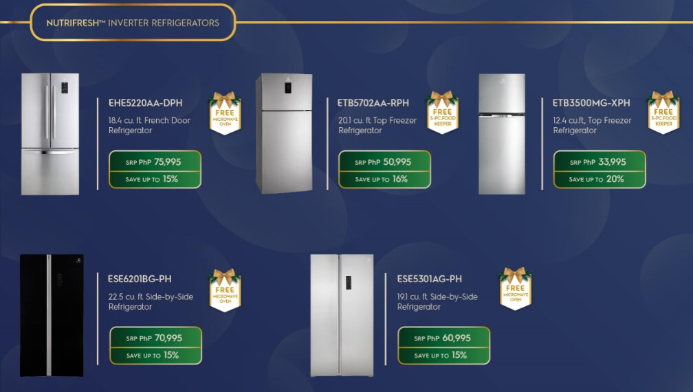 Electrolux Amazing Holideals Refrigerators Promo