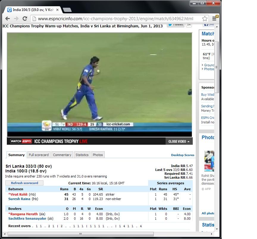 Cricinfo live cricket – Älypuhelimen käyttö ulkomailla
