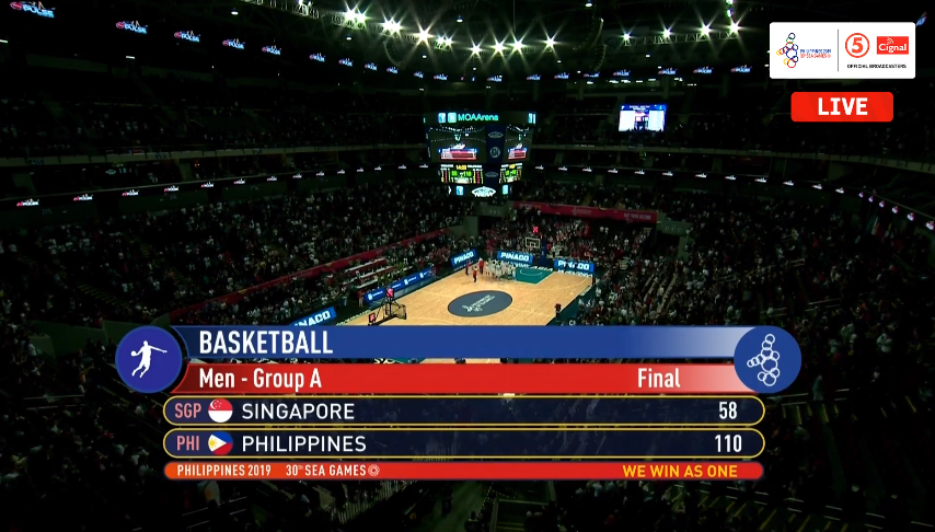 Gilas Pilipinas def. Singapore, 110-58 (REPLAY VIDEO) SEA Games 2019 | December 4