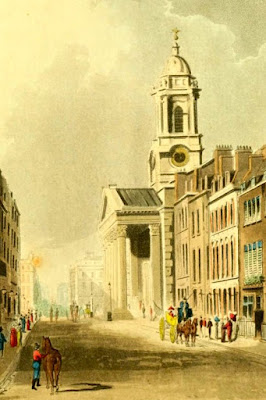 St George's, Hanover Square  from Ackermann's Repository (1812)