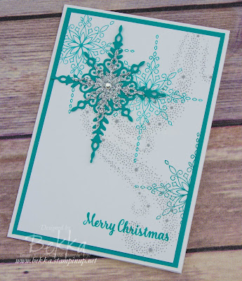 Christmas Card Featuring the Star Of Light Stamp Set and Matching Dies from Stampin' Up! UK - Buy them here